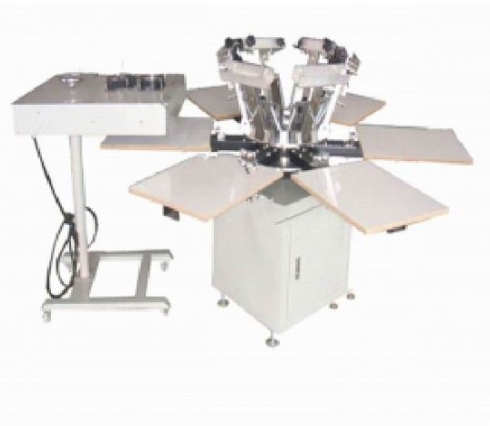 6 Color 6 Station Screen Printing Machine